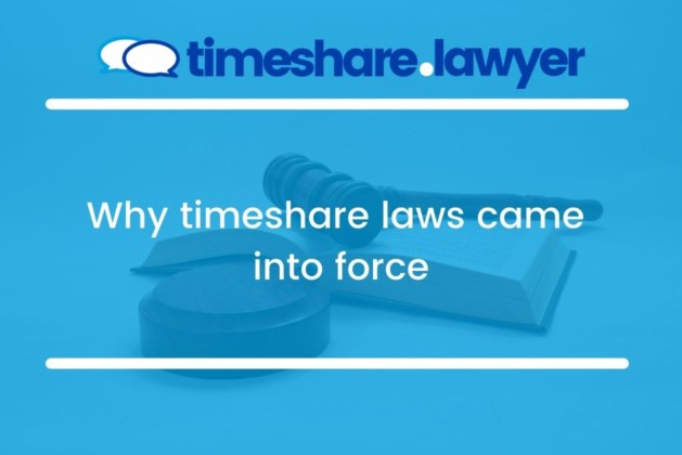 Why timeshare laws came into force