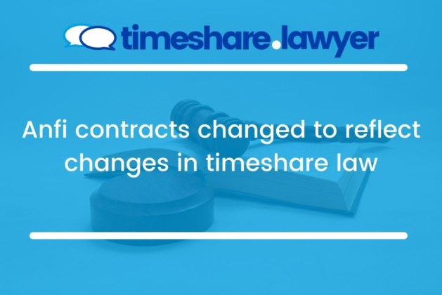 Anfi Contracts Changed To Reflect Changes In Timeshare Law